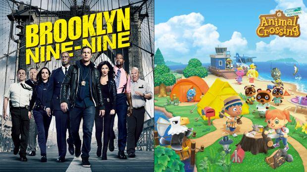 Des joueurs se sont amusés à réunir Bloklyn 99 et Animal Crossing New Horizons