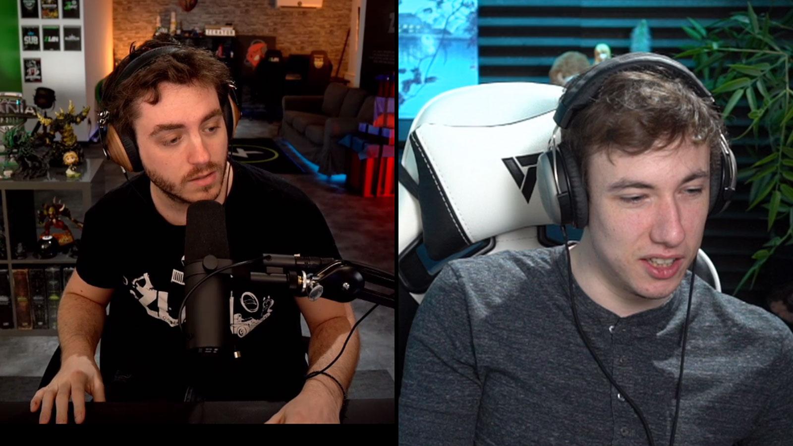 ZeratoR a fait une réaction troll sur le retour de sardoche sur League of Legends
