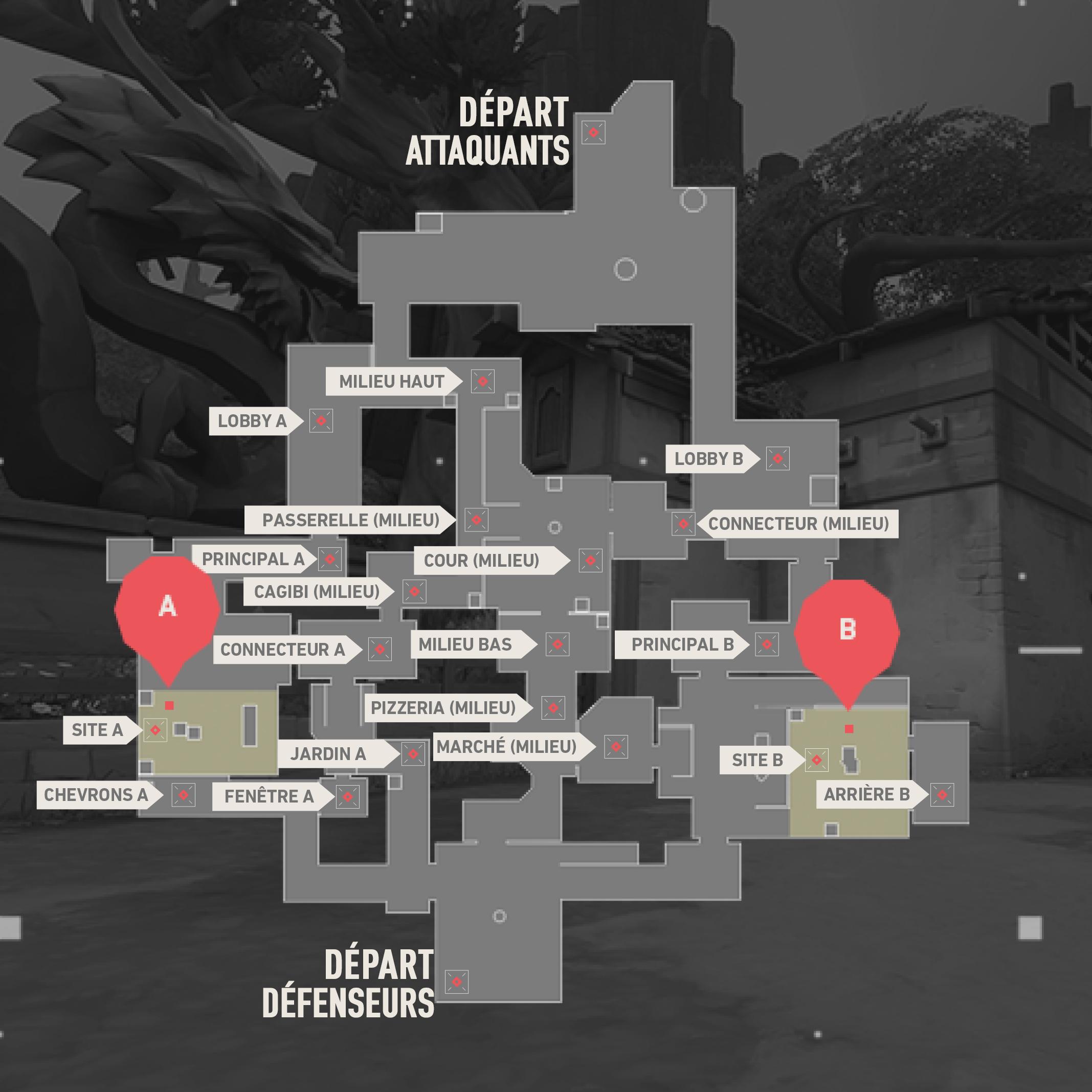 Plan de Ascent sur Valorant