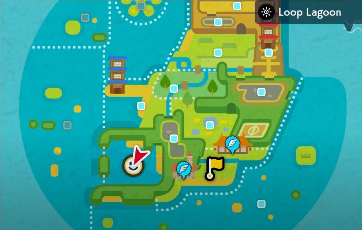 Pokémon Epée Bouclier île solitaire de l'Armure Game Freak Nintendo carte Lagune Circulaire