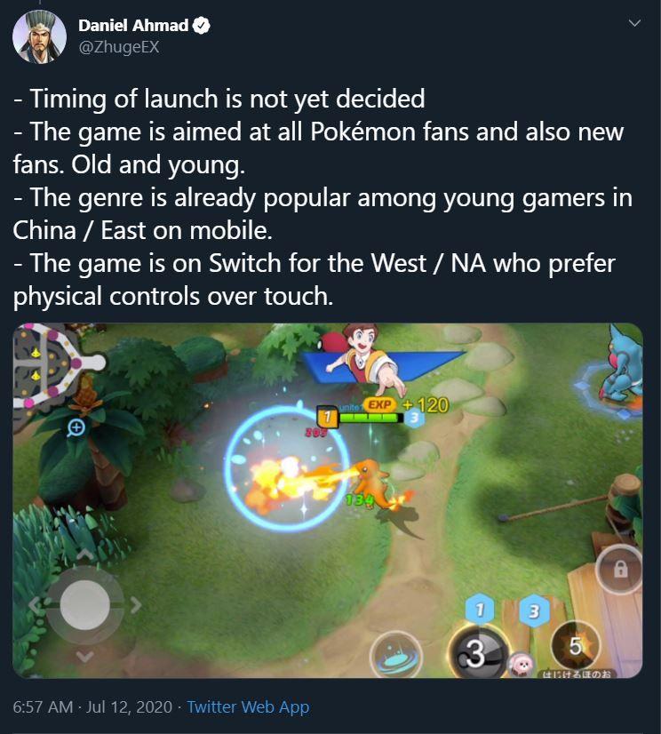capture twitter daniel ahmad Pokémon unite