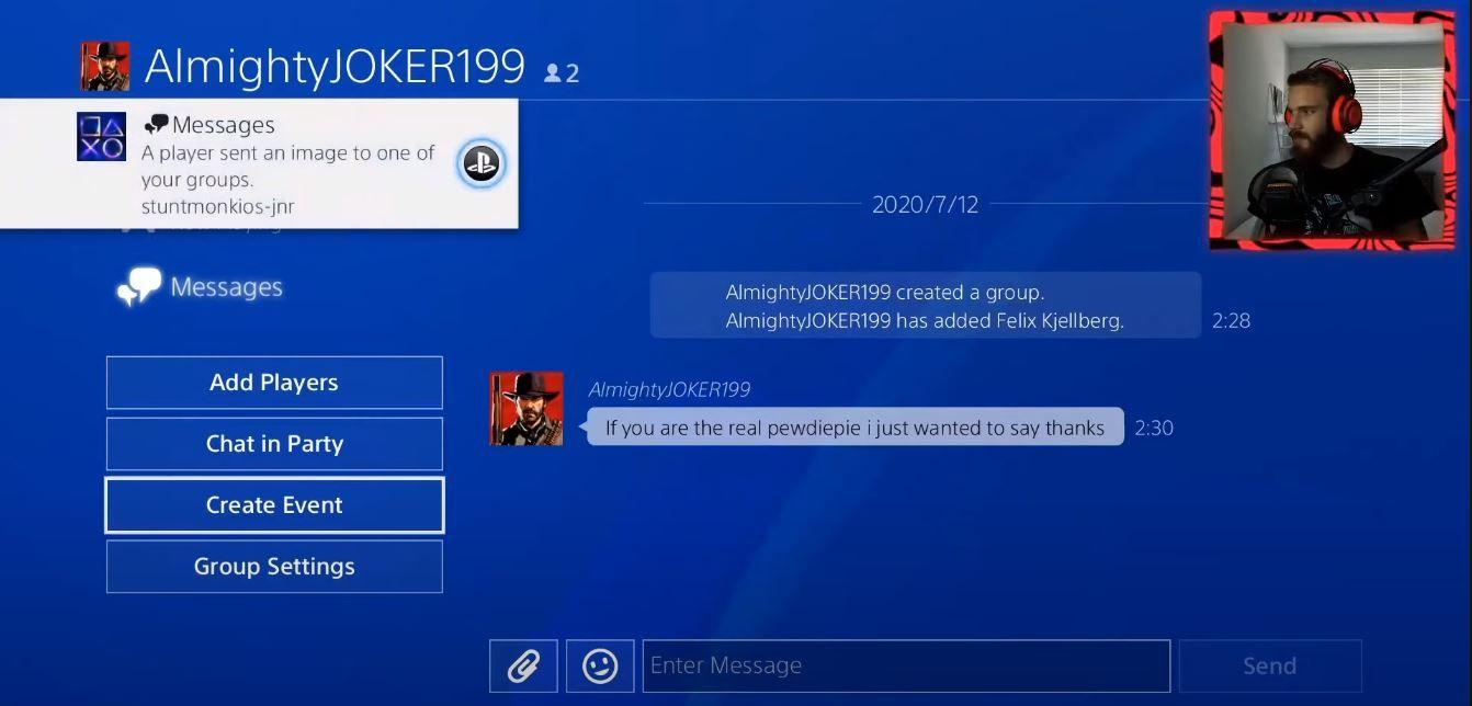 PewDiePie a accidentellement leaké son ID PlayStation