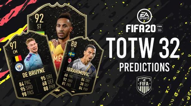 Prédictions de la TOTW 32 sur FIFA 20