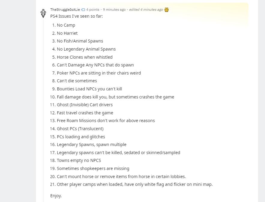 bug Red Dead Online Reddit