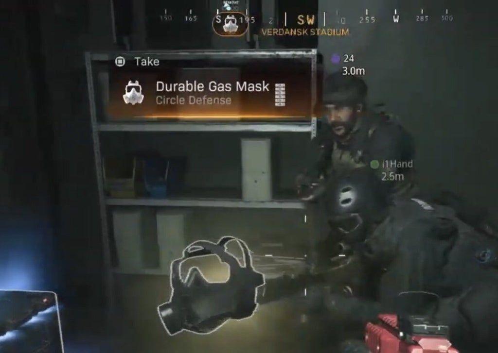 Warzone durable gas mask Infinity Ward