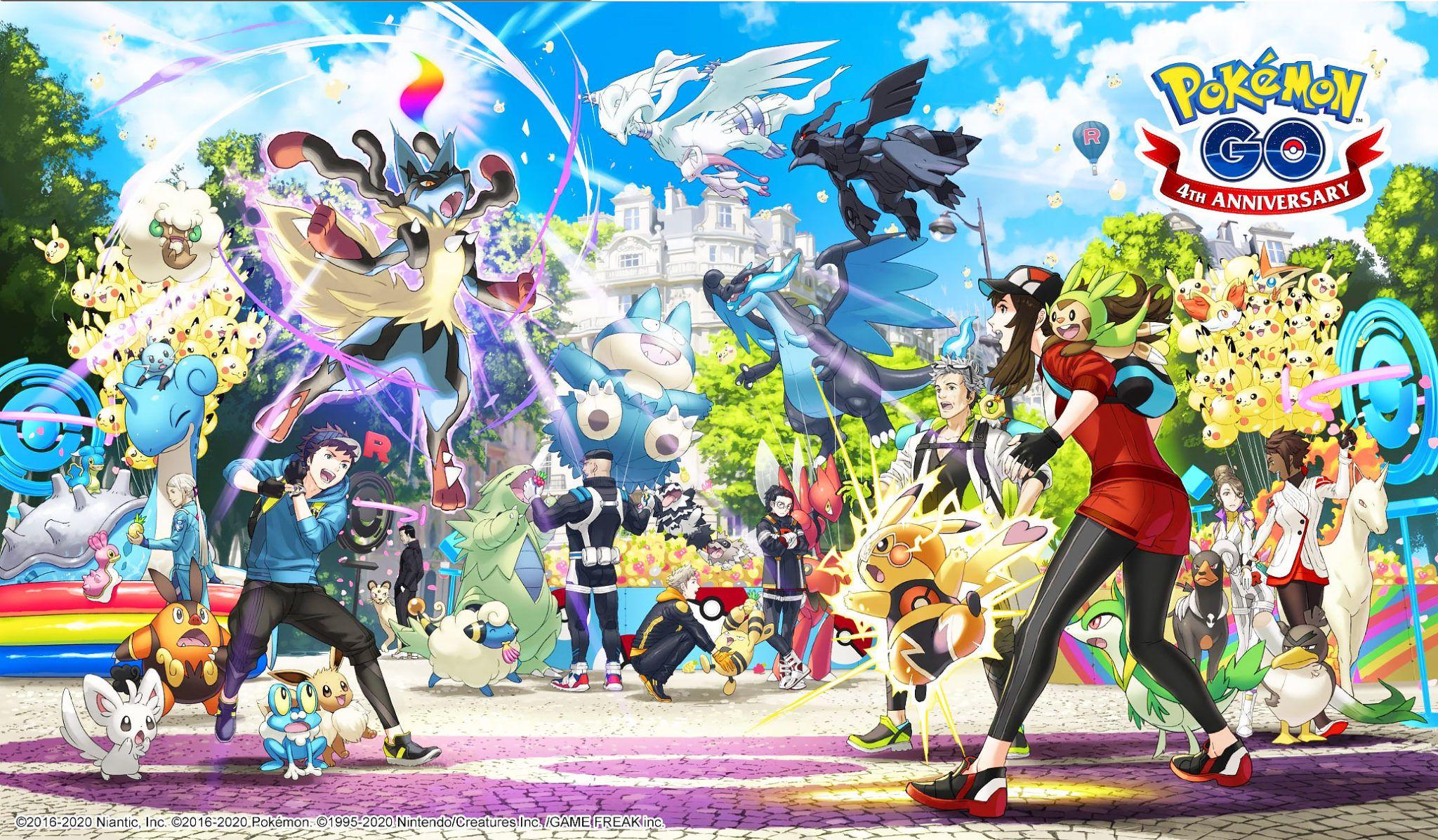 Pokémon Go fête cette année son quatrième anniversaire cette année