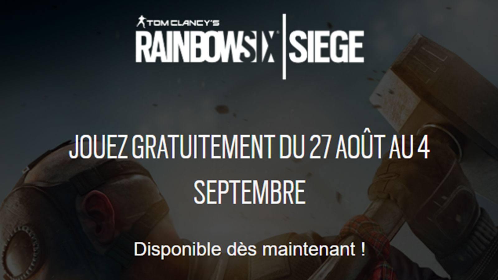 R6 Siege semaine gratuite Ubisoft