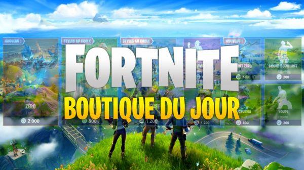 La boutique du jour sur Fortnite
