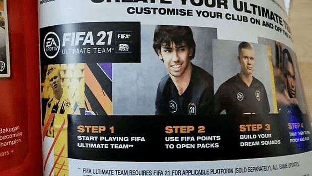 Publicité FIFA 21 Smyths Toys Electronic Arts
