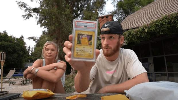 Logan Paul carte Pikachu