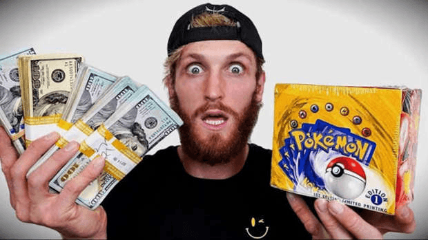 Logan Paul display 1re édition cartes Pokémon