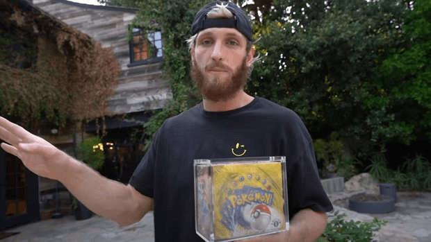 Logan Paul display Pokémon 1re édition