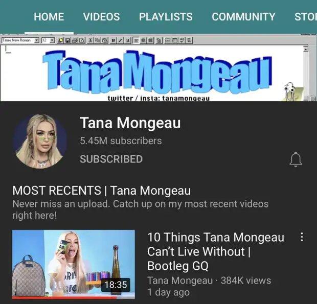 Tana Mongeau a brièvement perdu sa vérification YouTube
