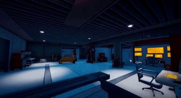 Fortnite laboratoire secret Tony Stark intérieur Epic Games