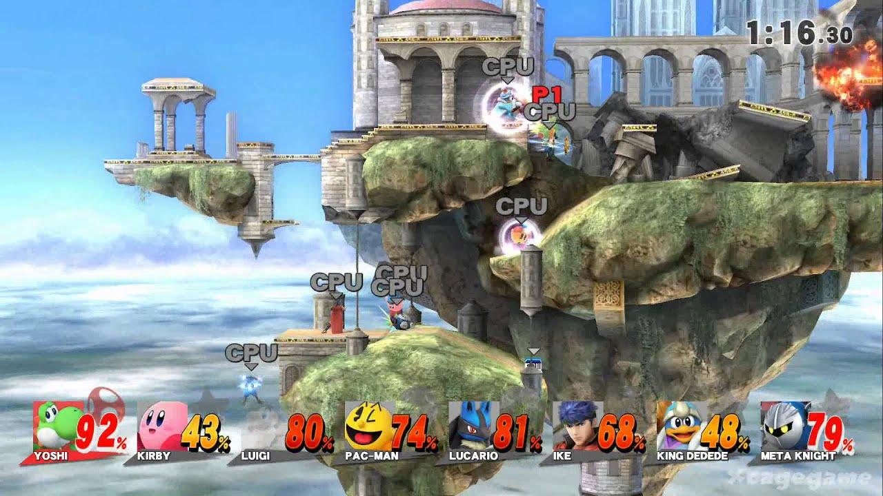 Le niveau Temple sur Smash Bros. Melee
