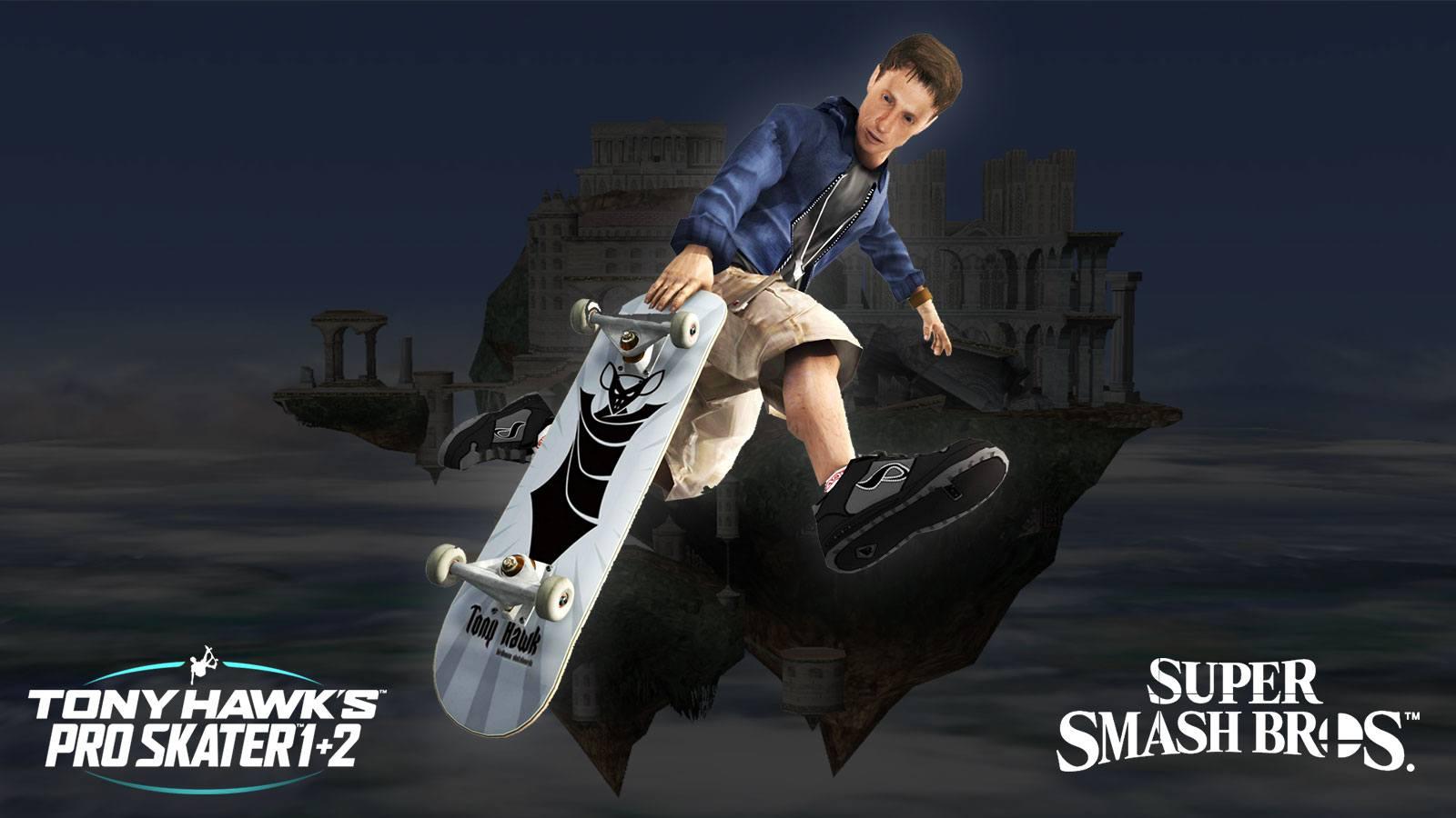 La map custome Smash Bros sur Tony Hawk's Pro Skater