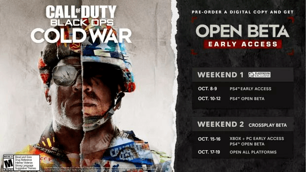 Black Ops Cold War dates bêta early access