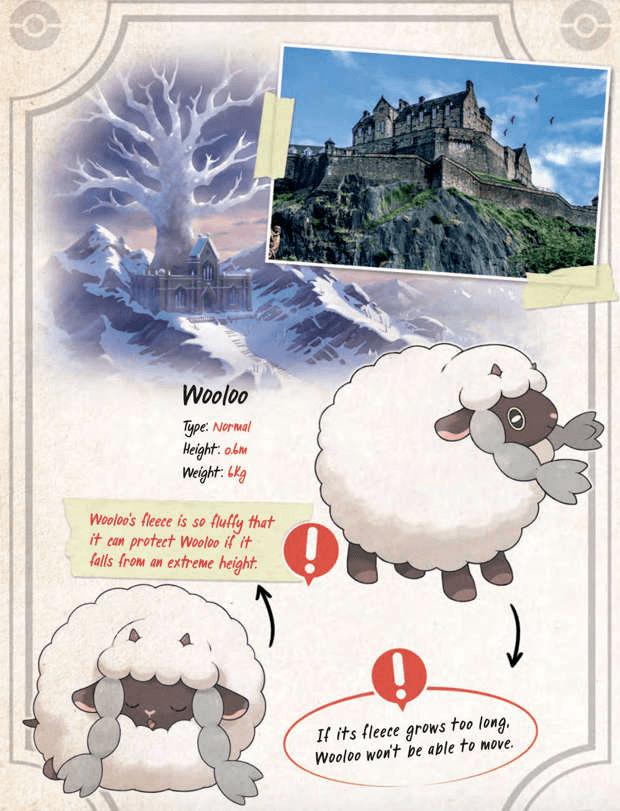 extrait guide de voyage pokémon épée bouclier Game Freak