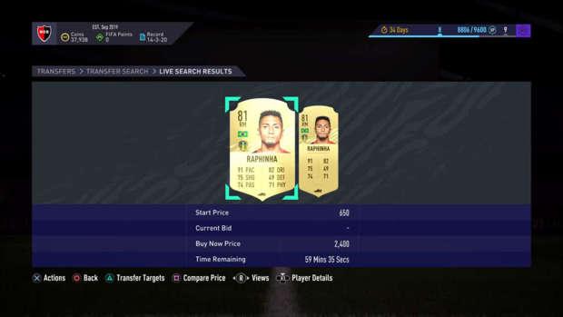 Raphinha sur FIFA 21