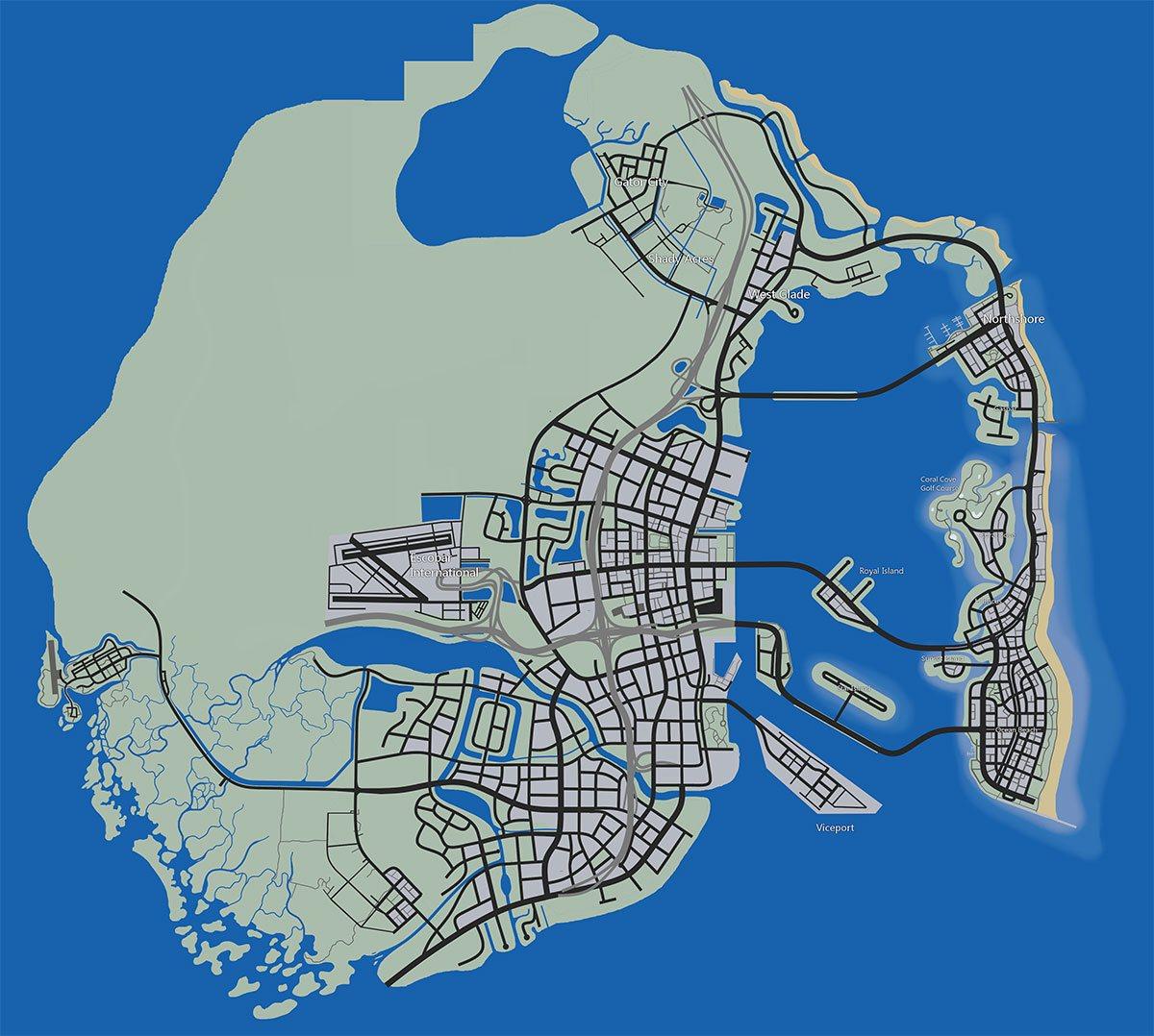 Le concept de map GTA 6 d'un fan