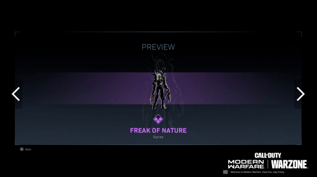 Warzone événement récompense Activision : freak of nature
