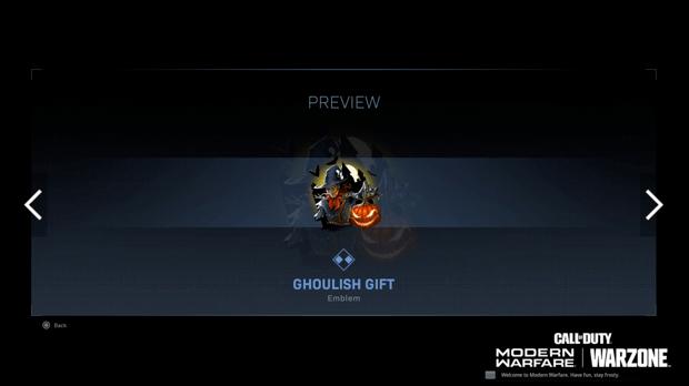 Warzone événement récompense Activision : ghoulish gif
