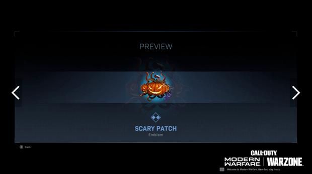 Warzone événement récompense Activision : scary patch