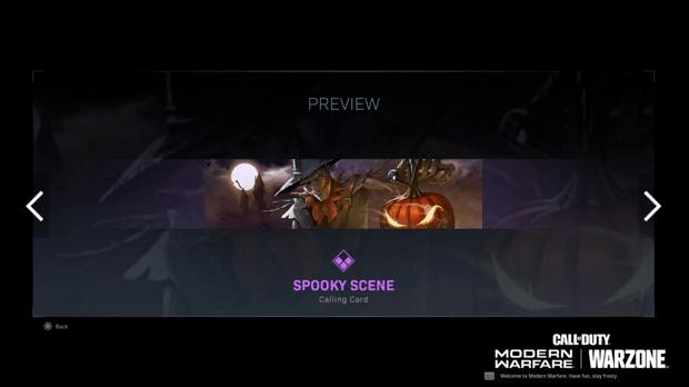 Warzone événement récompense Activision : spooky scene