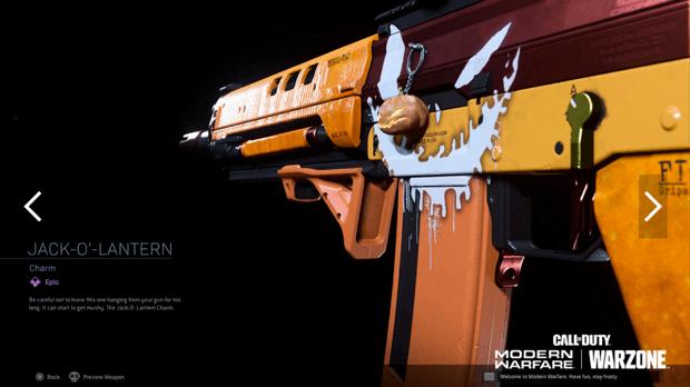 Warzone événement récompense Activision : jack o lantern