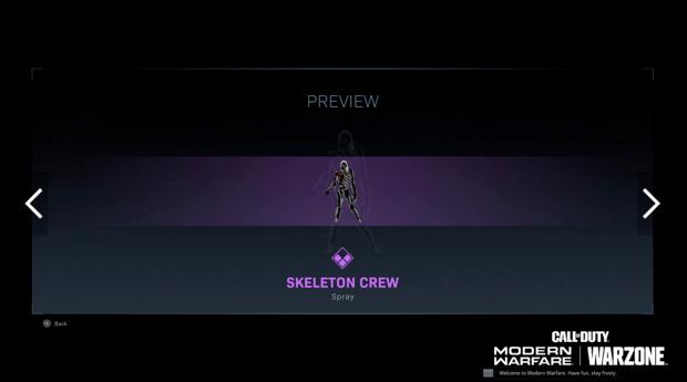Warzone événement récompense Activision : skeleton crew