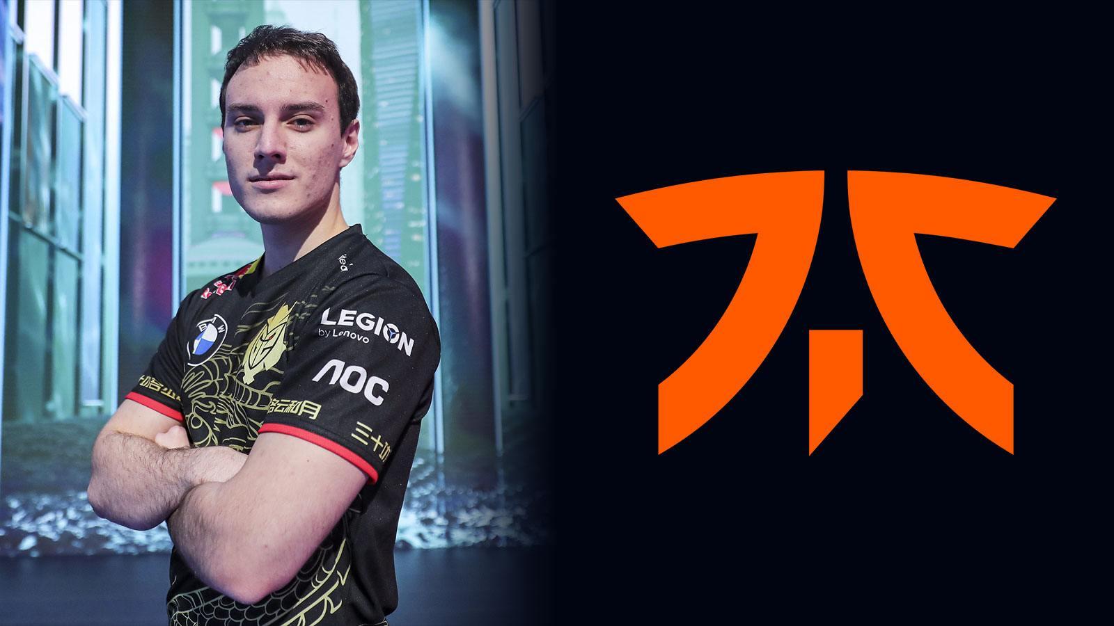 G2 Esports Perkz et le logo de Fnatic