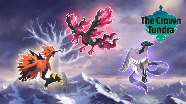 artikodin electhor sulfura galar couronneige Pokémon Game Freak