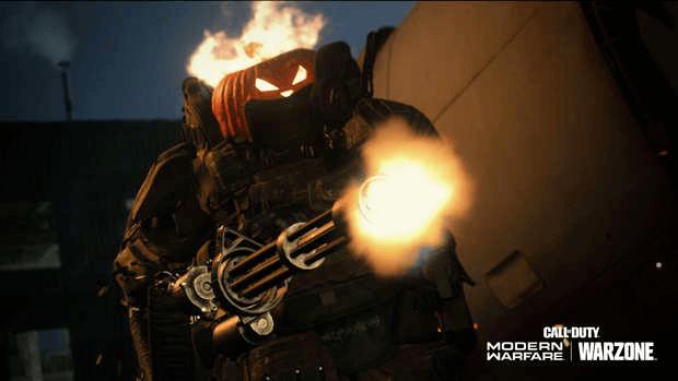 CoD Modern Warfare Halloween tête de citrouille