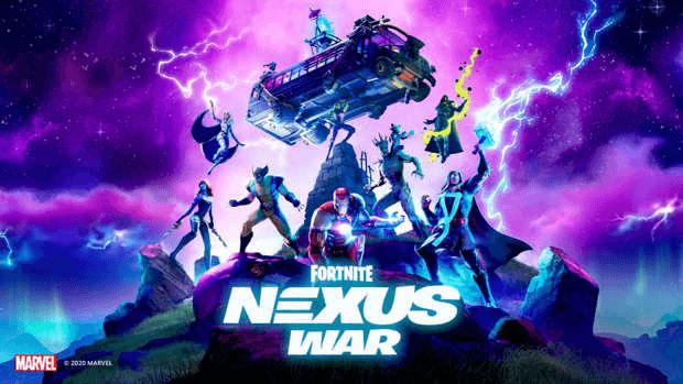 Fortnite affiche Nexus War Marvel