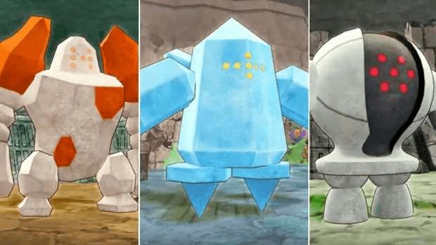 Pokémon Regirock Registeel Regice Pokémon Company