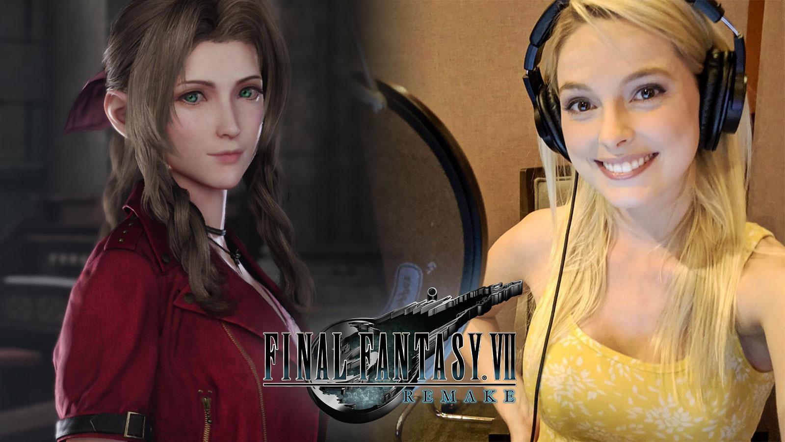 Aerith de FF7 Remake et sa doubleuse officielle