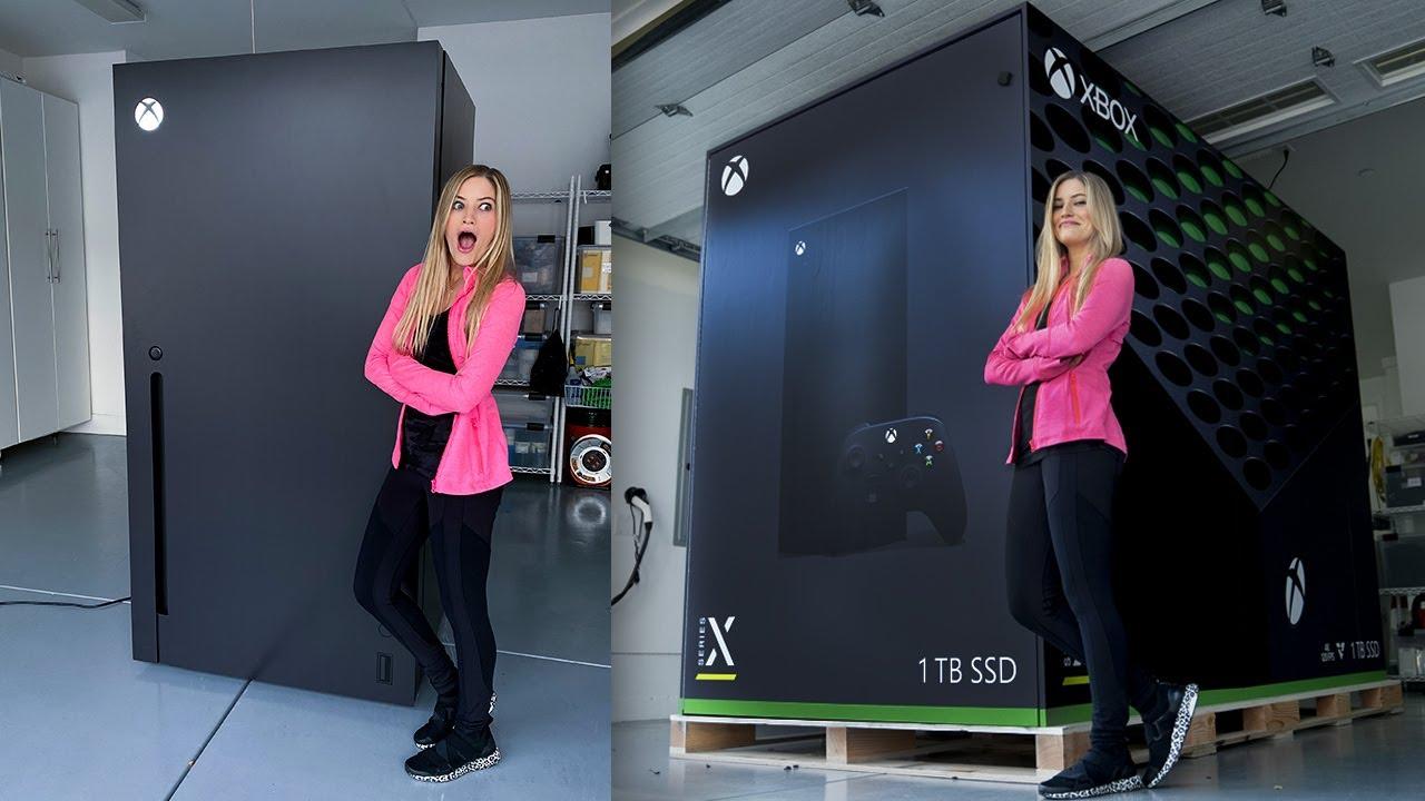 Des influenceurs américains ont reçu un cadeau atypique de la part de Microsoft, un frigo Xbox Series X