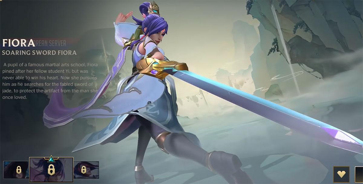 Skin Fiora à l'Épée Ascendante sur Wild Rift