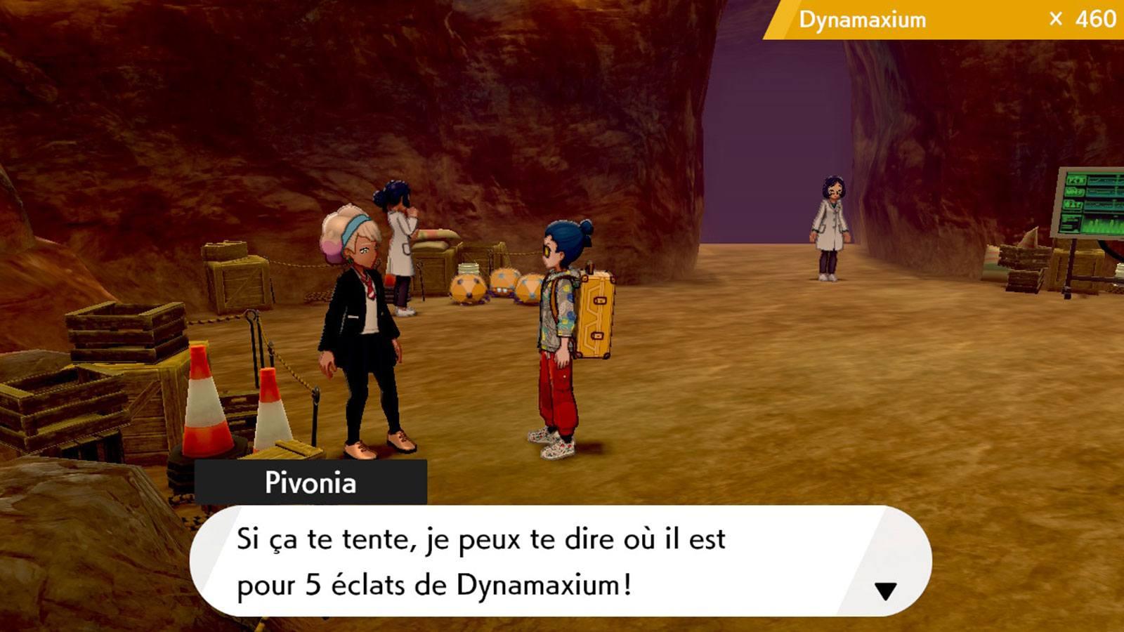 Pokémon couronneige expédition dynamax Game Freak Pivonia