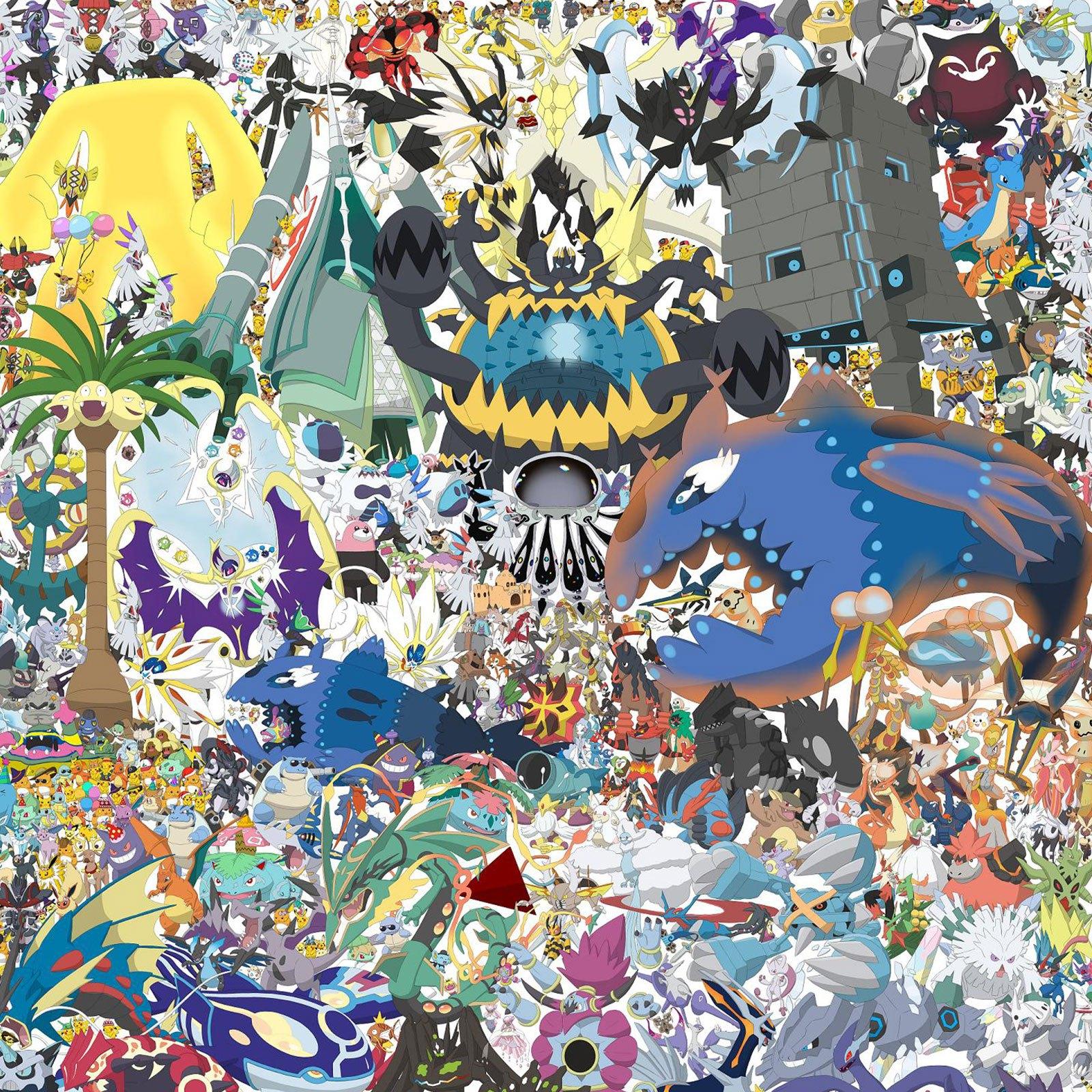 Le dessin avec tous les Pokémon de Duifel