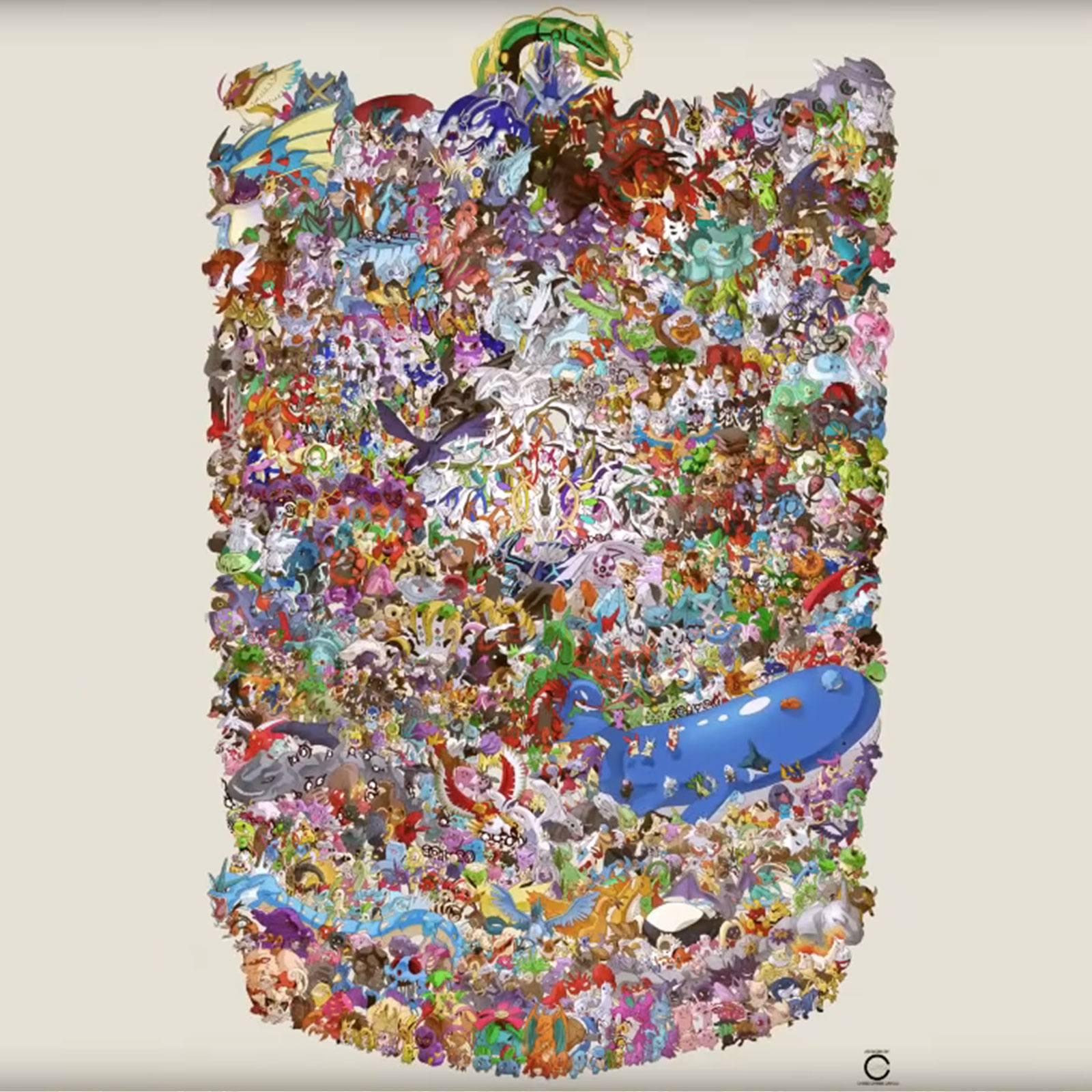 L'artiste Ccayco dessine près de 1200 Pokémon