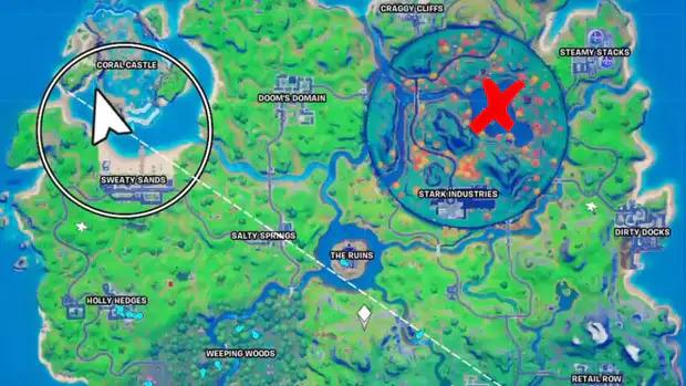 Où trouver le lac coeur sur Fortnite