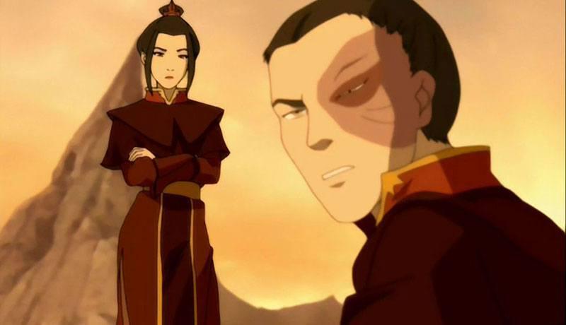 Zuko et Azula dans Avatar