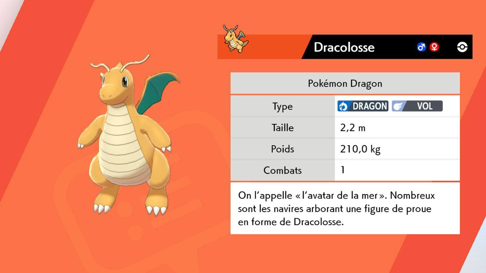 Pokédex Dracolosse Pokémon Bouclier Game Freak