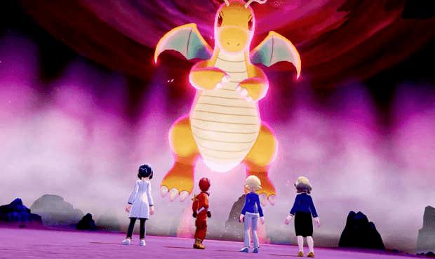 Pokémon dracolosse Dynamax raid Game Freak