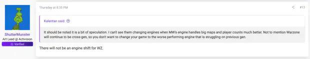 Les développeurs ont répondu aux questions des joueurs concernant un nouveau moteur graphique