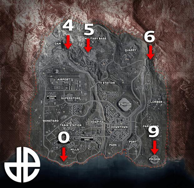 carte Warzone bunkers