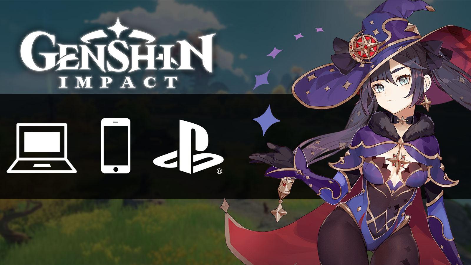 Différents supports de Genshin Impact