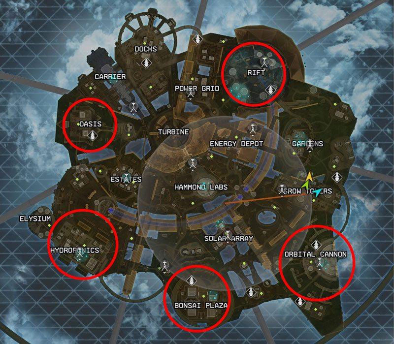 Carte d'Olympus dans Apex Legends