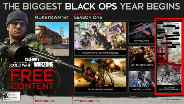 Roadmap de Black Ops Cold War